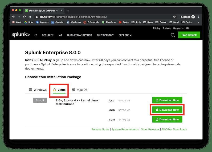 splunk-download-ubuntu-deb