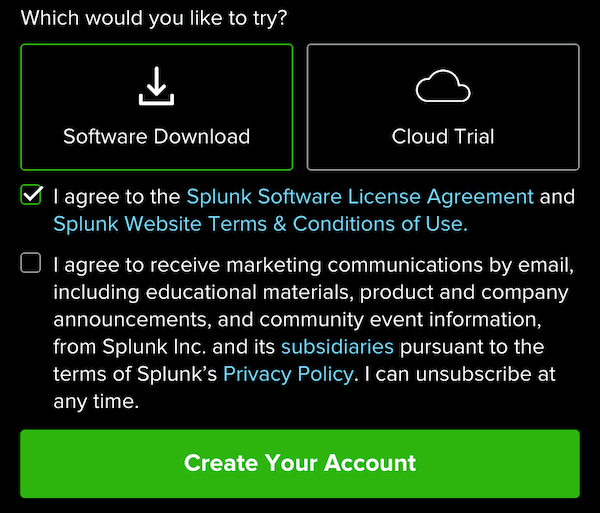 splunk-account-signup